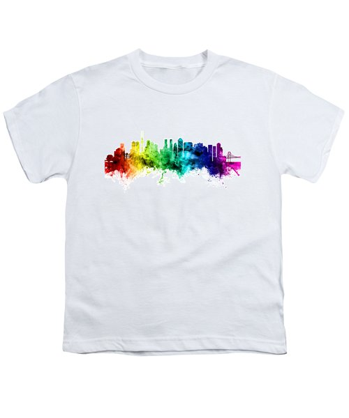 Tokyo Japan Skyline Youth T-Shirt by Michael Tompsett