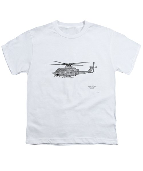 Bell Helicopter Uh-1y Venom Youth T-Shirt by Arthur Eggers