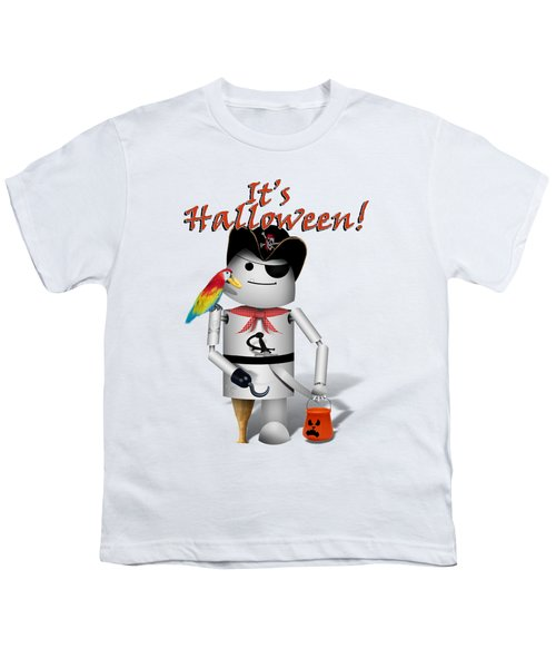 Trick Or Treat Time For Robo-x9 Youth T-Shirt by Gravityx9 Designs