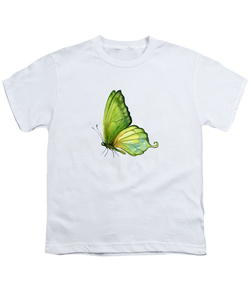 5 Sap Green Butterfly Youth T-Shirt by Amy Kirkpatrick
