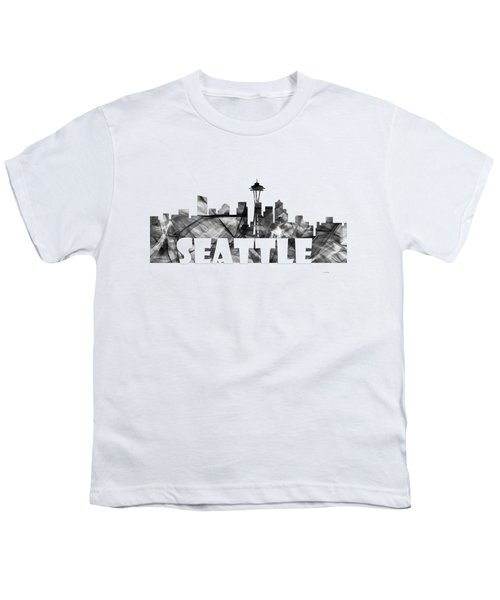 Seattle Washington Skyline Youth T-Shirt by Marlene Watson