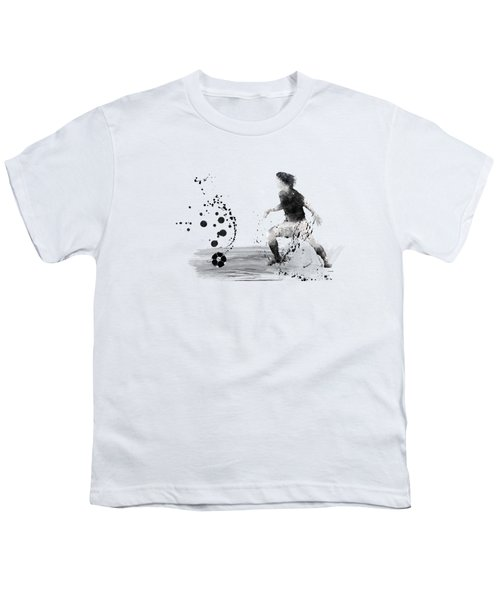 Football Player Youth T-Shirt by Marlene Watson