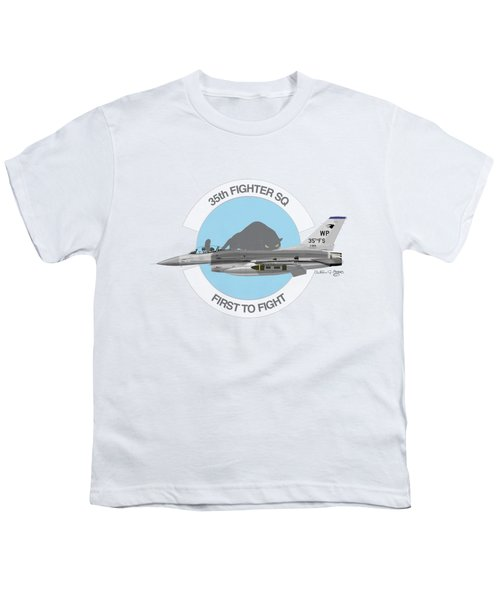 Lockheed Martin F-16c Viper Youth T-Shirt by Arthur Eggers