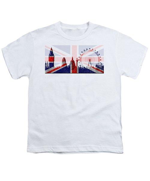 London Skyline Youth T-Shirt by Michal Boubin