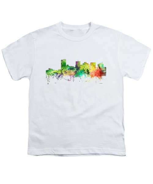 Phoenix Arizona Skyline Youth T-Shirt by Marlene Watson