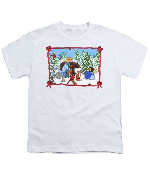 A Christmas Scene 2 Youth T-Shirt by Sarah Batalka