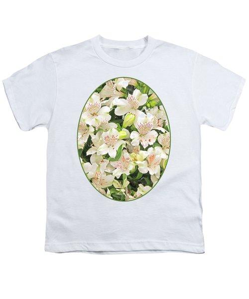 Alluring Alstroemeria - Peruvian Lilies Youth T-Shirt by Gill Billington