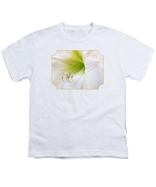 Alluring Amaryllis Youth T-Shirt by Gill Billington
