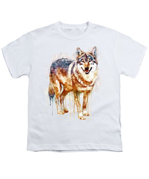 Alpha Wolf Youth T-Shirt by Marian Voicu