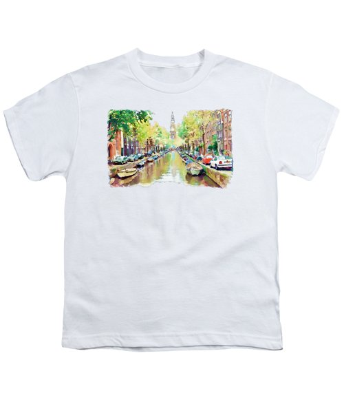 Amsterdam Canal 2 Youth T-Shirt by Marian Voicu