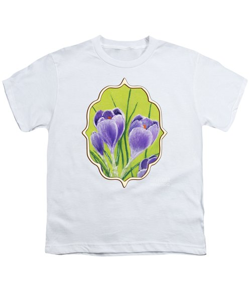 Crocus Youth T-Shirt by Anastasiya Malakhova