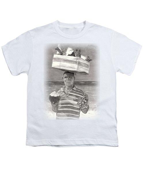 Island Street Vendor Youth T-Shirt by Tom Podsednik