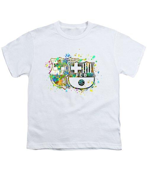 Tribute To F C Barcelona 7 Youth T-Shirt by Alberto RuiZ