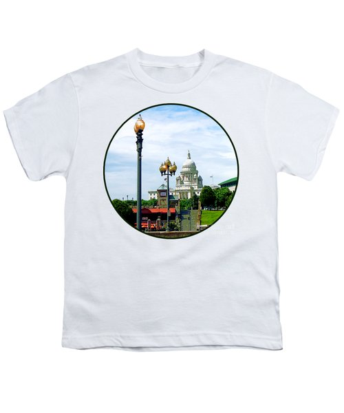Capitol Building Seen From Waterplace Park Youth T-Shirt by Susan Savad