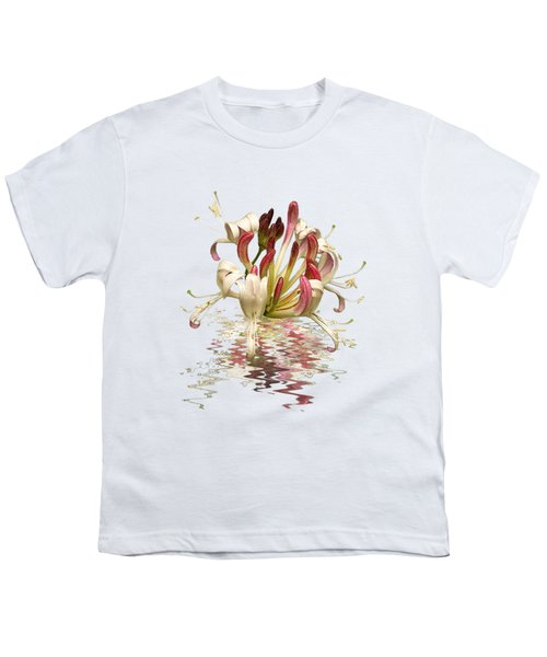 Honeysuckle Reflections Youth T-Shirt by Gill Billington