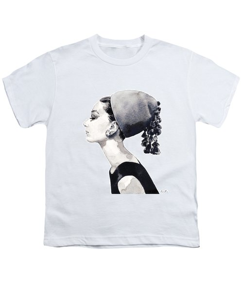Audrey Hepburn For Vogue 1964 Couture Youth T-Shirt by Laura Row