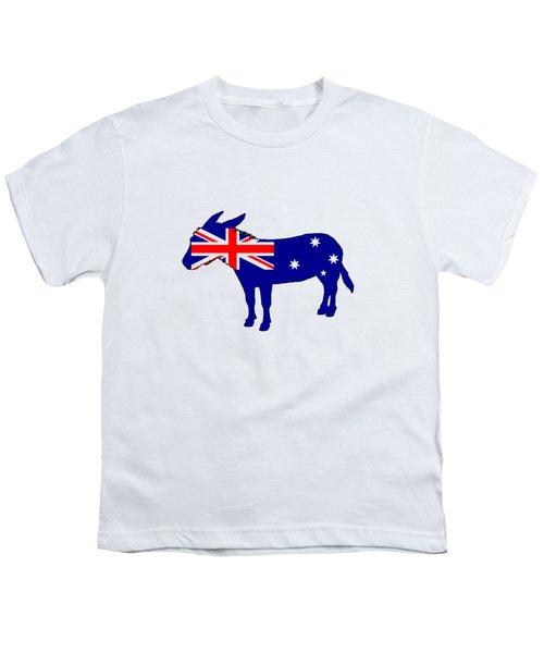 Australian Flag - Donkey Youth T-Shirt by Mordax Furittus