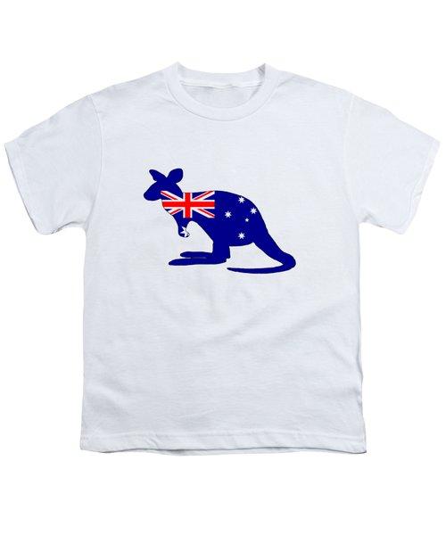 Australian Flag - Kangaroo Youth T-Shirt by Mordax Furittus