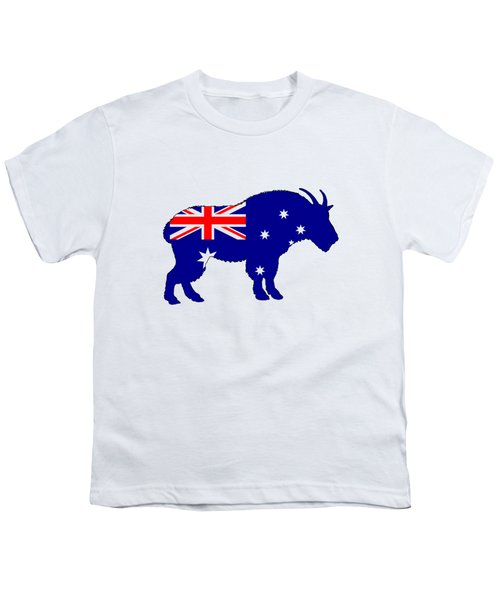 Australian Flag - Mountain Goat Youth T-Shirt by Mordax Furittus