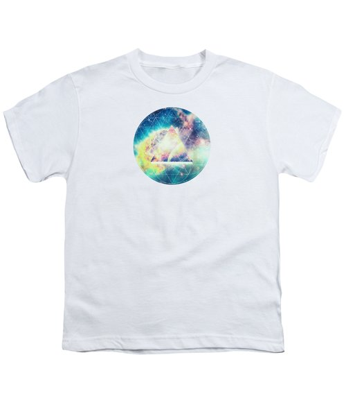 Awsome Collosal Deep Space Triangle Art Sign Youth T-Shirt by Philipp Rietz