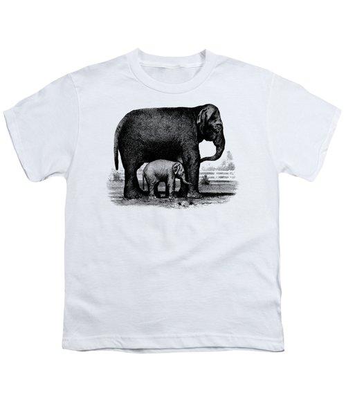 Baby Elephant T-shirt Youth T-Shirt by Edward Fielding