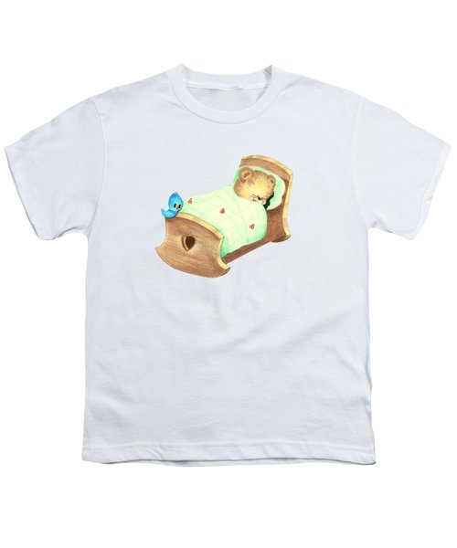 Baby Teddy Sweet Dreams Youth T-Shirt by Linda Lindall