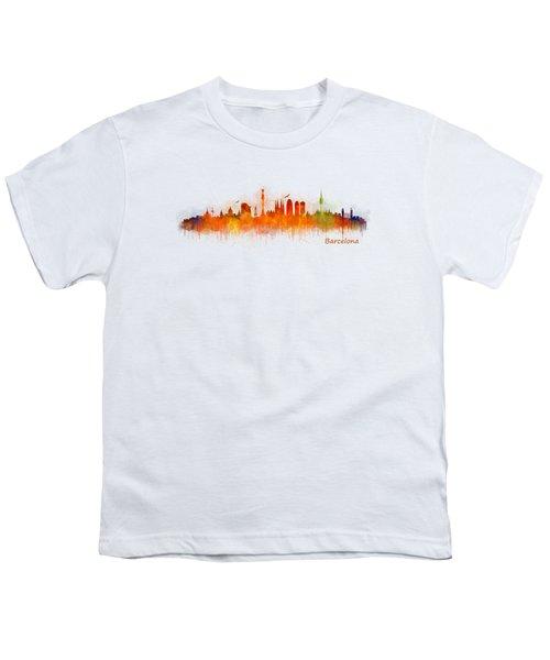 Barcelona City Skyline Hq _v3 Youth T-Shirt by HQ Photo
