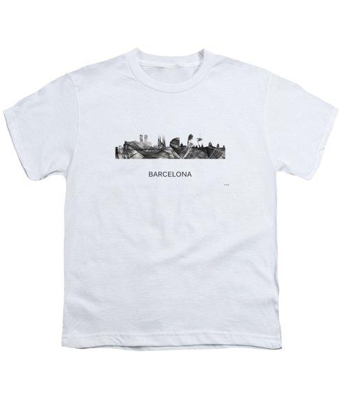 Barcelona Spain Skyline Youth T-Shirt by Marlene Watson