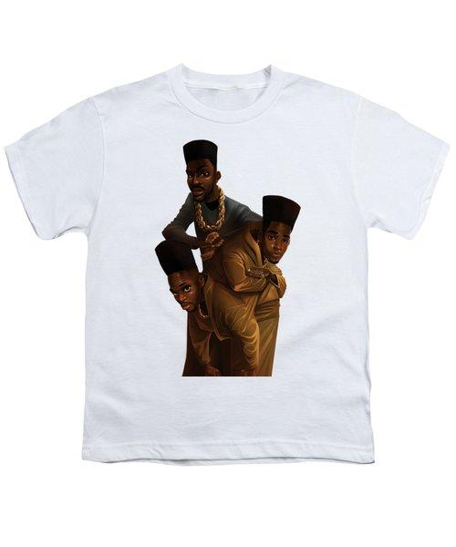 Bdk White Bg Youth T-Shirt by Nelson Dedos Garcia