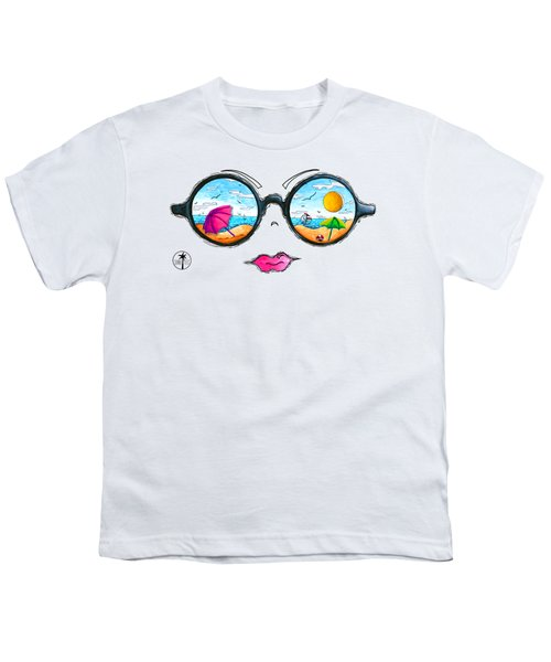 Beach Day Sunglass Design From The Sunnie Tees 2016 Collection Youth T-Shirt by Megan Duncanson