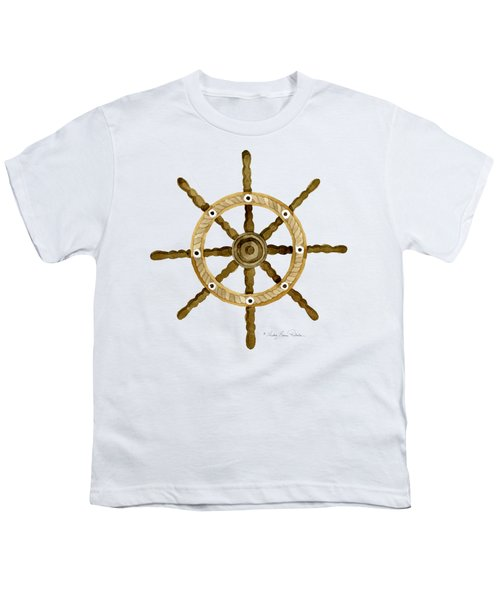 Beach House Nautical Boat Ship Anchor Vintage Youth T-Shirt by Audrey Jeanne Roberts