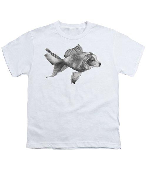 Beaglefish Youth T-Shirt by Courtney Kenny Porto