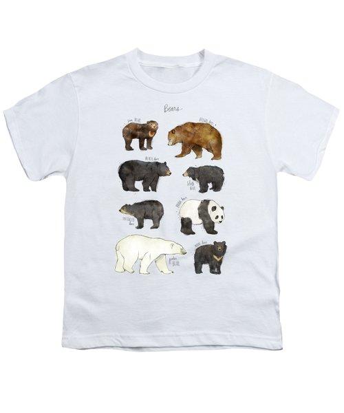 Bears Youth T-Shirt by Amy Hamilton