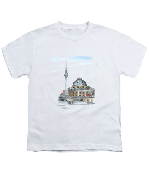 Berlin Fernsehturm Youth T-Shirt by Petra Stephens