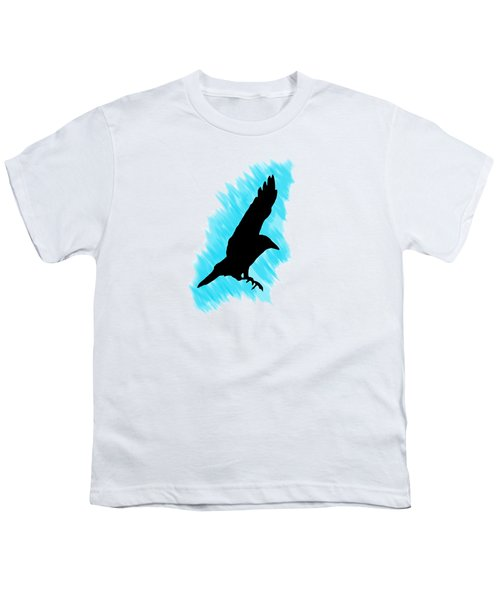 Black And Blue Youth T-Shirt by Linsey Williams