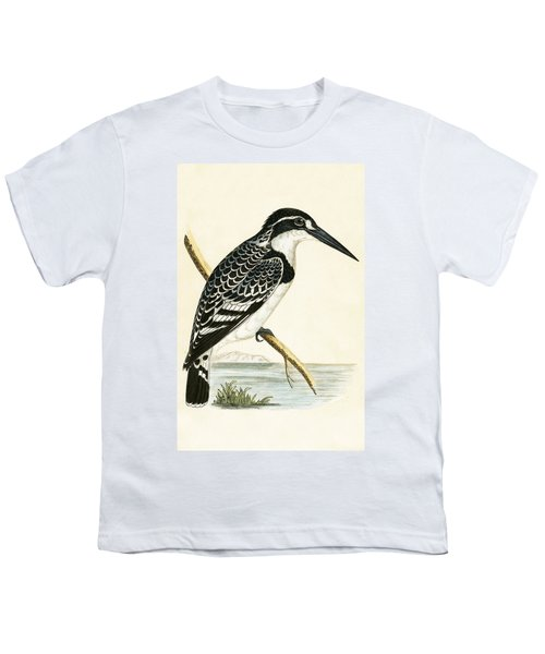 Black And White Kingfisher Youth T-Shirt by English School