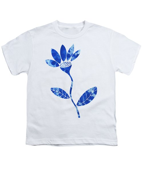 Blue Flower Youth T-Shirt by Frank Tschakert