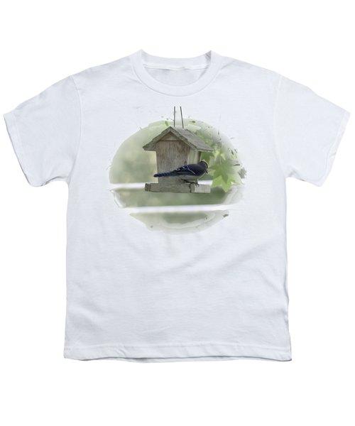 Bluejay Youth T-Shirt by Judy Hall-Folde