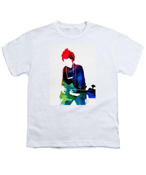 Bob Watercolor Youth T-Shirt by Naxart Studio