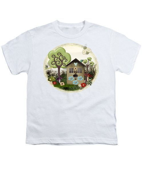 Bonnie Memories Whimsical Mixed Media Youth T-Shirt by Sharon and Renee Lozen