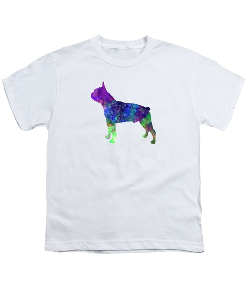 Boston Terrier 02 In Watercolor Youth T-Shirt by Pablo Romero
