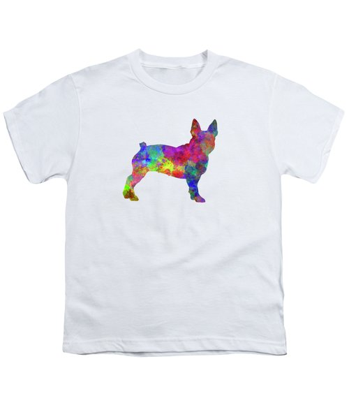 Boston Terrier 01 In Watercolor Youth T-Shirt by Pablo Romero