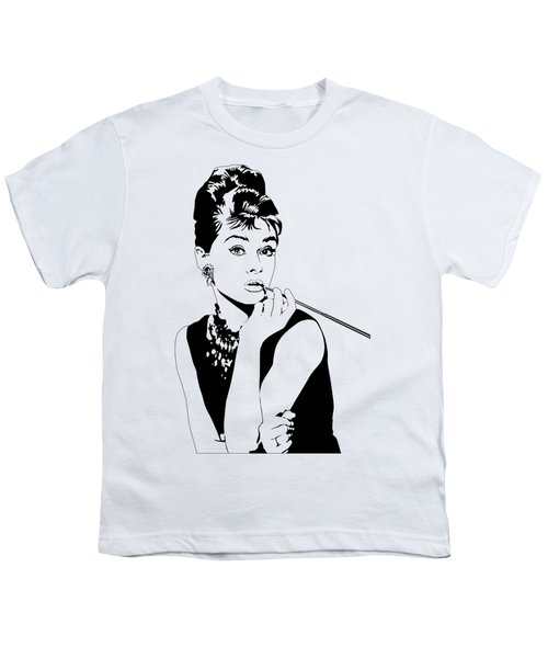 Breakfast At Tiffany's Youth T-Shirt by Amy Wilkinson