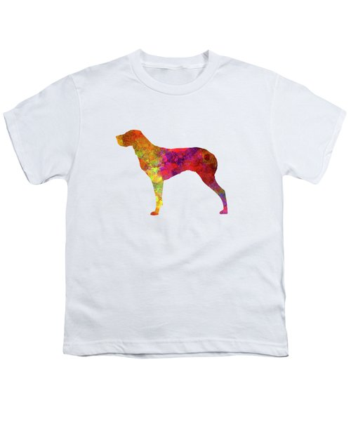 Burgos Pointer In Watercolor Youth T-Shirt by Pablo Romero
