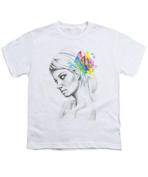 Butterfly Queen Youth T-Shirt by Olga Shvartsur