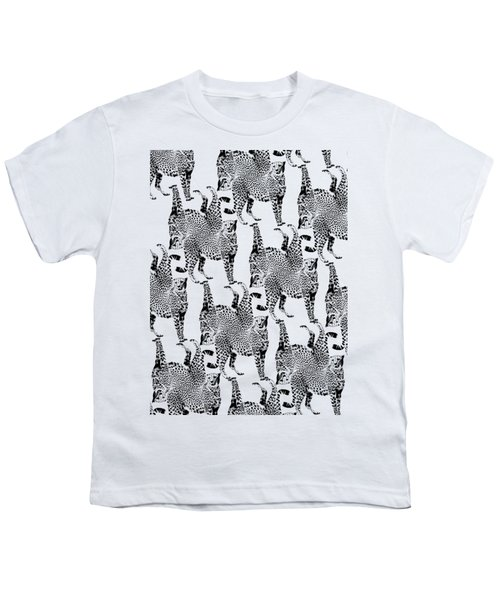 Cheetah Pattern Youth T-Shirt by Greg Noblin