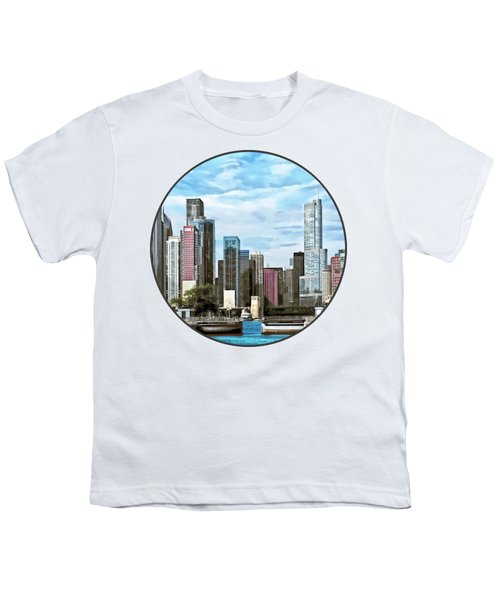Chicago Il - Chicago Harbor Lock Youth T-Shirt by Susan Savad