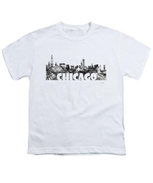 Chicago Illinios Skyline Youth T-Shirt by Marlene Watson