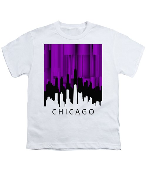 Chicago Violet Vertical  Youth T-Shirt by Alberto RuiZ