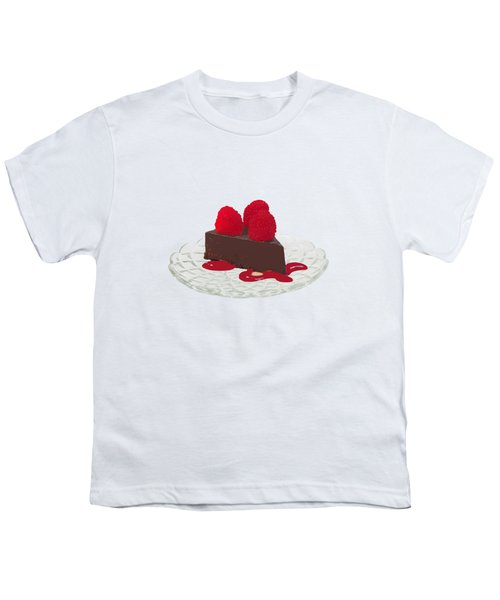 Chocolate Cake Youth T-Shirt by Priscilla Wolfe